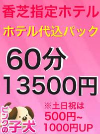 【香芝限定】ホテル代込60分¥13500