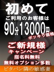 ■ご新規様90分13000円!ポッキリ価