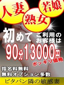ご新規様90分13000円!ポッキリ価格
